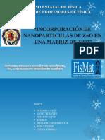 incorporación de nanoparticulas de ZnO en una matriz de TiO2