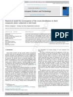 Numerical model for investigation of the strain distribution in thick composite plates subjected to bolt loads