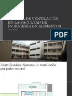 Sistema de Ventilación en La Facultad de Ingeniería