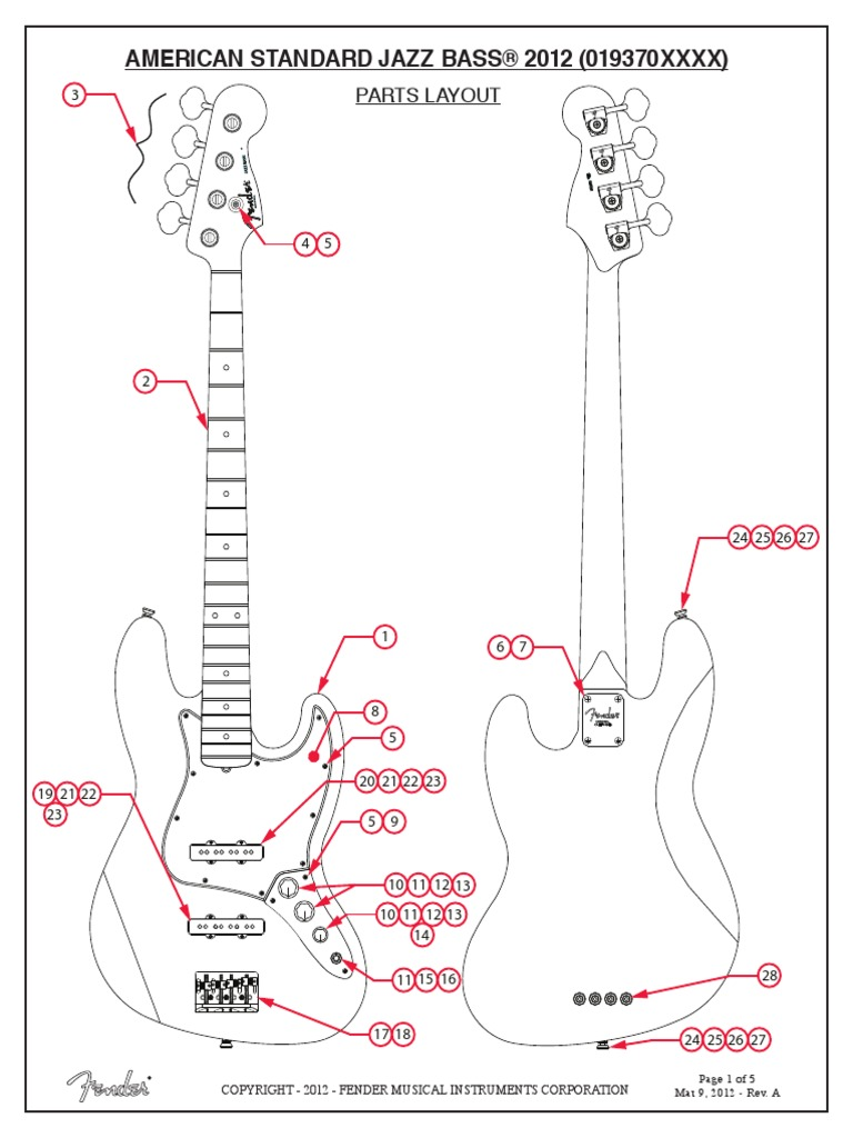 Fender American Standard Jazz B Wiring Diagram Fender Cabronita