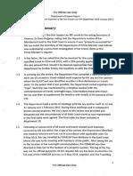 Dept of Finance Report