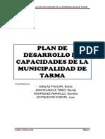 Plan de Desarrollo de Capacidades de La Municipalidad de Tarma - Gerencia de Administracion