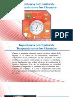 Importancia Del Control de Temperaturas en Los Alimentos