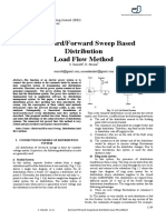 Backward_Forward Sweep Based Distribution Load Flow Method