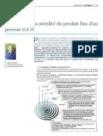 La qualité et la stérilité du produit fini d'un process B.F.S. (La Vague 47)