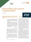 documentación como narración y argumentación.pdf