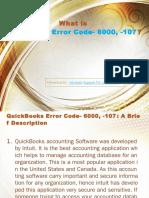 QuickBooks Error Code 6000-107