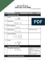 Bài tập Động học chất điểm (Lớp 10CB)