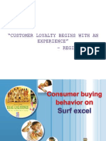 Consumer Buying Behavior on Surf Excel
