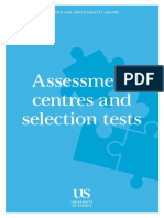 Assessment centres and selection tests