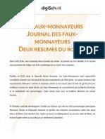 477f2c0ec6744a2f64d641abb22956a4 Resume Les Faux Monnayeurs Andre Gide Cours Litterature Terminale l