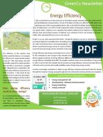 GreenCo Newsletter - Energy Efficiency