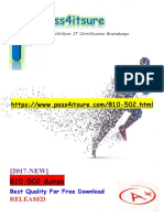 New Pass4itsure 810-502 Dumps Exam - Cisco Leading Virtual Classroom Instruction - Written Exam