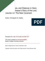 Glory Kenosis and Distance in Von Balthasar