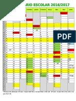 Calendário Escolar 2016-2017