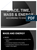 Space, Time, Mass & Energy