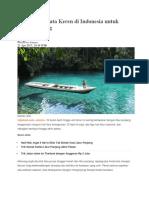 5 Tempat Wisata Keren Di Indonesia Untuk Libur Panjang
