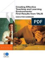 Creating Effective Teaching and Learning Environments- First Results From TALIS