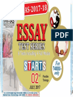 Essay Test Series 2017