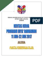 Kertas Kerja Ihya' Ramadhan 2017 Stasc