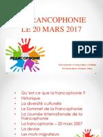 Fete de La Francophonie 2017