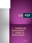 Gender and Development (Group 3 Work)