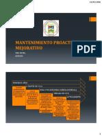 (1) Mantenimiento Proactivo Mejorativo