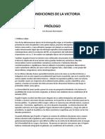 Prólogo a Las Condiciones de la Victoria, de Rogelio Frigerio (borrador, por Maximo Merchensky)
