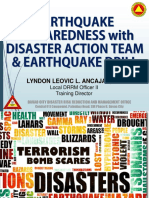 New Earthquake Preparedness With DAT & EQ Drill
