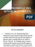 Las Promesas de Dios Se Cumplen