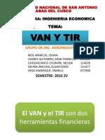 VAN Y TIR Grupo de Ing. Agroindustrial