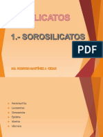 15 Sorosilicatos y Ciclosilicatos