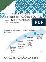 Ser Professor - Representação Social - Apresentaçao ppt