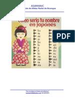 Alfabeto Japones