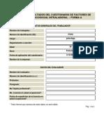 Informe de Resultados Del Cuestionario de Factores de Riesgo Psicosocial Intralaboral