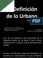 Definicion de Lo Urbano