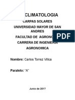 Bioclimatologia Carpas Solares