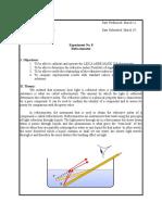 Experiment 8 Refractometer