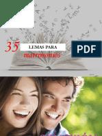 35 LEMAS PARA MATRIMONIOS FELICES - CONEXION
