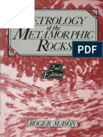 Petrology of the Metamorphic Rocks. Manson, 2011