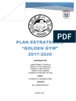 Plan Estrategico Golden Gym