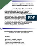 """Transformaciones socio-espaciales en ciudades grandes e intermedias del sistema urbano nacional"""" -1-"""