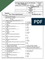 7th Class November Test Eng 2015