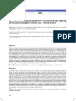 Parámetros físicos y mecánicos relacionados con la maduración de los mangos (Mangifera indica L.) cv. 'Tommy Atkins'