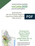 Evaluacion de Los Planes Region Ales Vigentes