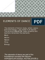 Presentation Humanities Elements of Dance
