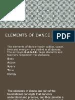 Presentation Humanities Elements of Dance