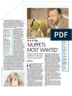 "Film Review - ""Muppets Most Wanted"""