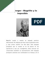 John Berger - Magritte y Lo Imposible