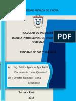 Informe Quu00cdmica General Ley de Los Gases